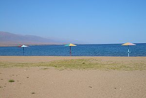 Issyk-Kul - On the beach at Koshkol'