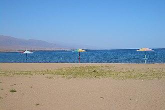 Issyk-Kul - On the beach at Koshkol'