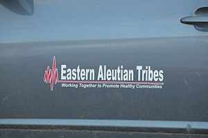 Adak, Alaska - Logo on side of vehicle owned by Eastern Aleutian Tribes Inc.