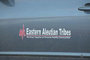 Adak, Alaska - Logo on side of vehicle owned by Eastern Aleutian Tribes Inc.