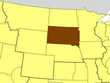 Location of the Diocese of South Dakota