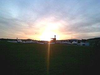 Old Sarum Airfield airport in the United Kingdom