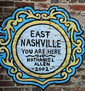 East Nashville, Tennessee - A wall mural in the 5 Points in East Nashville