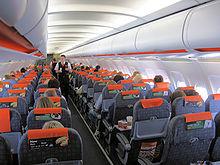 L'interno di un Airbus A319-100.