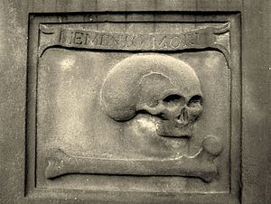 Memento mori - Memento mori. Gravestone inscription (1746). Edinburgh. St. Cuthbert's Churchyard.