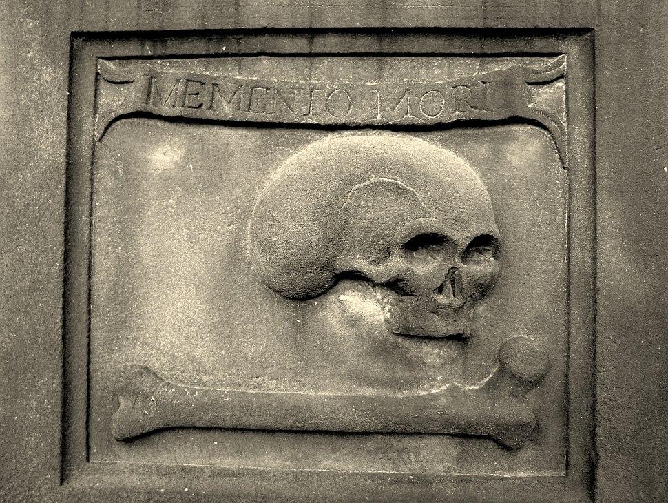 Edinburgh. St. Cuthbert's Churchyard. Grave of James Bailie. Detail