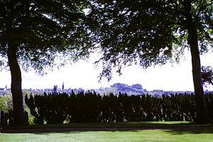 "Royal Botanic Garden Edinburgh - Edinburgh's skyline as seen from ""The Botanics"" at Inverleith"