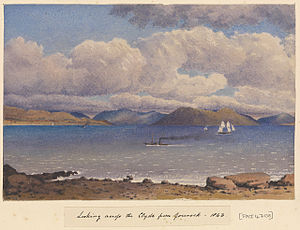 Edward Gennys Fanshawe, Looking across the Clyde from Gourock, 1843 (Scotland).jpg