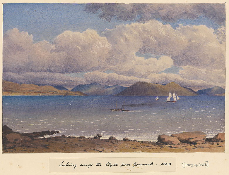 File:Edward Gennys Fanshawe, Looking across the Clyde from Gourock, 1843 (Scotland).jpg