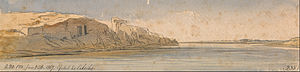 Gebel el-Silsila - Image: Edward Lear Gebel Es Silsilis Google Art Project