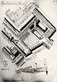 Een ontwerp van het Raadhuisplein, i.v.m. de bouw van het nieuwe Raadhuis van Velsen, te IJmuiden. (architect W.M. Dudok). Aangekocht in 1976 van fotograaf C. de Boer. Identificatienummer 54, NL-HlmNHA 54010323.JPG