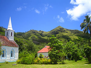 Taravai - Image: Eglise.Saint Gabriel.Taravai