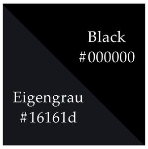 Eigengrau - An approximation of Eigengrau vs. the black color