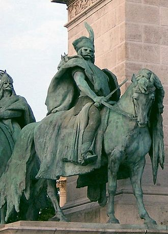 Előd - Statue of Előd on the Heroes' Square of Budapest