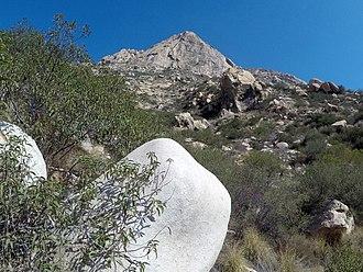 El Cajon Mountain - Image: El Cajon Mountain Wall