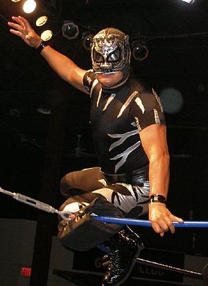 Leyenda de Plata - El Pantera (depicted in 2008), one of the participants in the first version of Leyenda de Plata