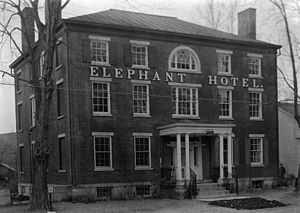 Elephant Hotel - The Elephant Hotel photographed for the Historic American Buildings Survey in the 1930s.