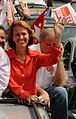 Elisa Maria Costa durante carreata em Gov. Valadares MG.jpg