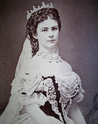 Empress Elisabeth of Austria - Coronation photograph by Emil Rabending