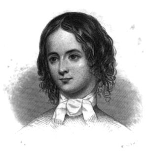 English: Engraving of American writer Elizabet...