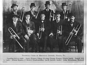 Moravian Church music - Trombone Choir of the Moravian Church in Emmaus, Pennsylvania, c.1900