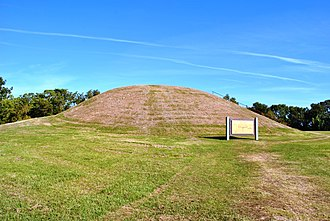 Emerald Mound Site - Secondary mound at west end of Emerald Mound