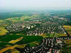Aerial view of Emmendingen