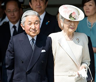 Empress Michiko - The Emperor and Empress in April 2014
