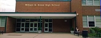 William G. Enloe High School - Front entrance of West Campus