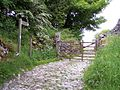 Entrance to Moor End farm track-bridleway - geograph.org.uk - 1346417.jpg