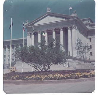Oklahoma State Capitol - Entrance to Oklahoma State Capitol (1972 photograph)