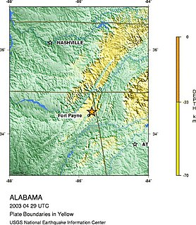 2003 Alabama earthquake