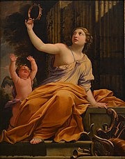 Erato with Eros by Simon <span class=