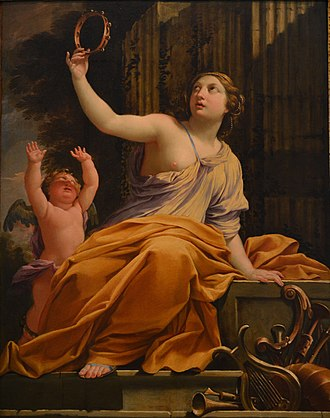 Erato - Erato with Eros by Simon Vouet.