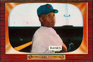 Ernie Banks - 1955 Bowman trading card