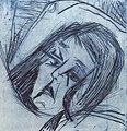 Ernst Ludwig Kirchner Liegender Mädchenkopf 1917.jpg