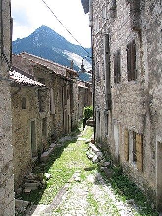 Erto e Casso - View of a central road in Erto