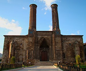 Islam in Armenia - The Seljuk era Çifte Minareli Medrese (Twin Minaret Madrasa) in the city of Erzurum.