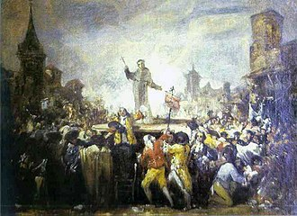 Suppression of the Society of Jesus - Motín de Esquilache, Madrid, attributed to Francisco de Goya (ca. 1766, 1767)