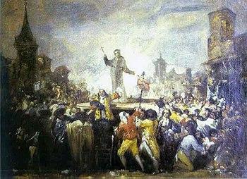 Francisco de Goya: Madrid hat riot