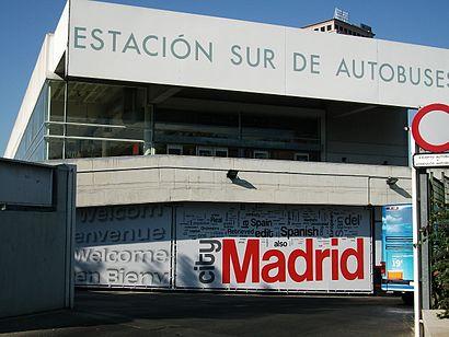 Cómo llegar a Estación Sur de Autobuses de Madrid en transporte público - Sobre el lugar