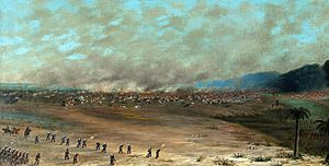 Battle of Estero Bellaco - Detail from a painting by Cándido López