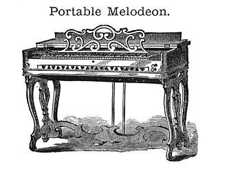 Estey Organ - Image: Estey & Green Perfect Melodeon Portable Melodeon Estey & Green (1855 1863)