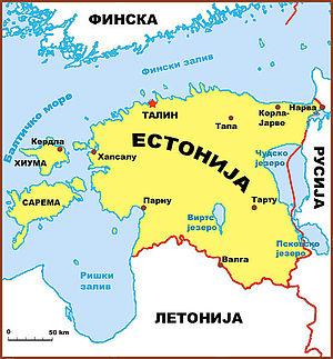 Мапа Естоније