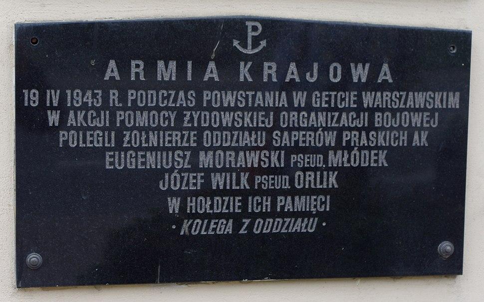 Eugeniusz Morawski, Józef Wilk, Akcja Getto (Tablica, Kościół Jana Bożego w Warszawie)