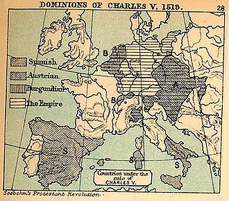 Italian War of 1521–1526 - The territories controlled by Charles V in 1519