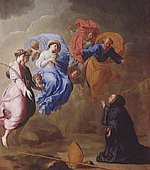Apparition of the Virgin with Saint Agnes and Saint Thecla to Saint Martin