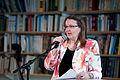 Eva Strom, forfattare och ordforande i bedomningskomitten till Nordiska radets litteraturpris 2011. Vid ett litteratur seminarium i Oslo 2011-04-1.jpg