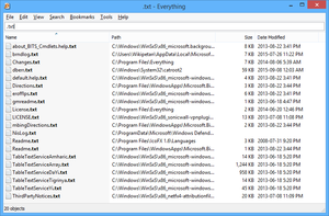 Screenshot of Everything v1.3.4.686 on Windows 8.1