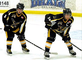 Exeter Hawks - Hawks line up for a draw early in the 2013-14 season.